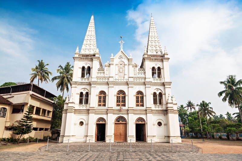 Santa Cruz Basilica. In Cochin, Kerala, India stock images