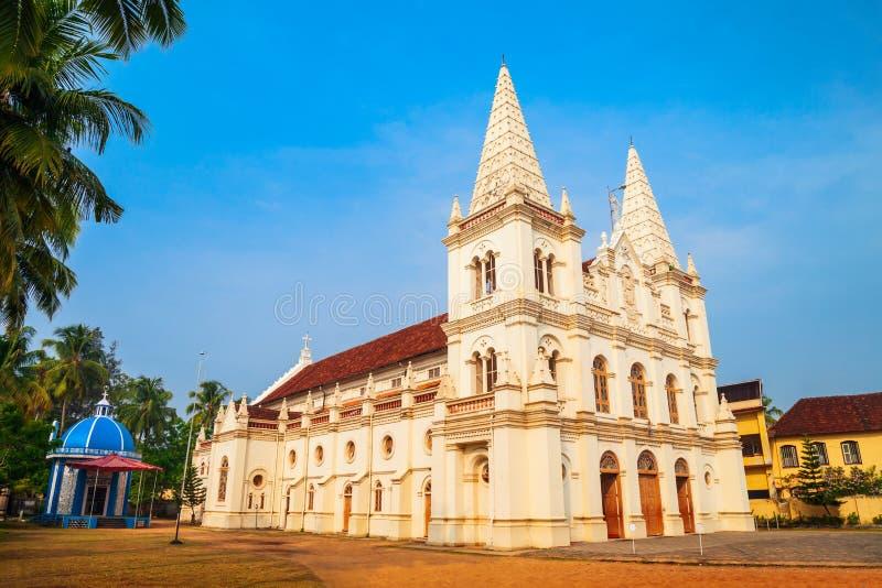 Santa Cruz Basilica in Cochin stock photo