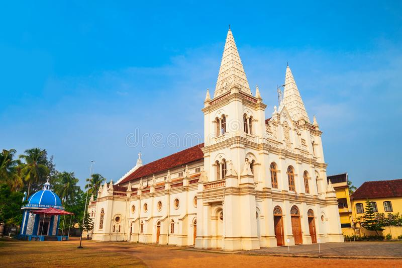 Santa Cruz Basilica i Cochin arkivbild