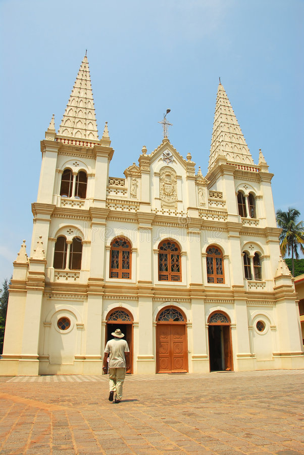 Santa Cruz Baslica, Kochi, India royalty free stock image