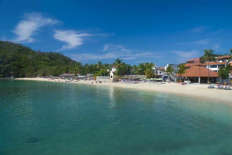 Santa Cruz Bay in Huatulco, Oaxaca, Mexico stock photo
