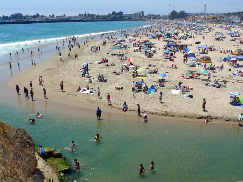 Santa Cruz Beach On 4 Th Of July Weekend Editorial Image