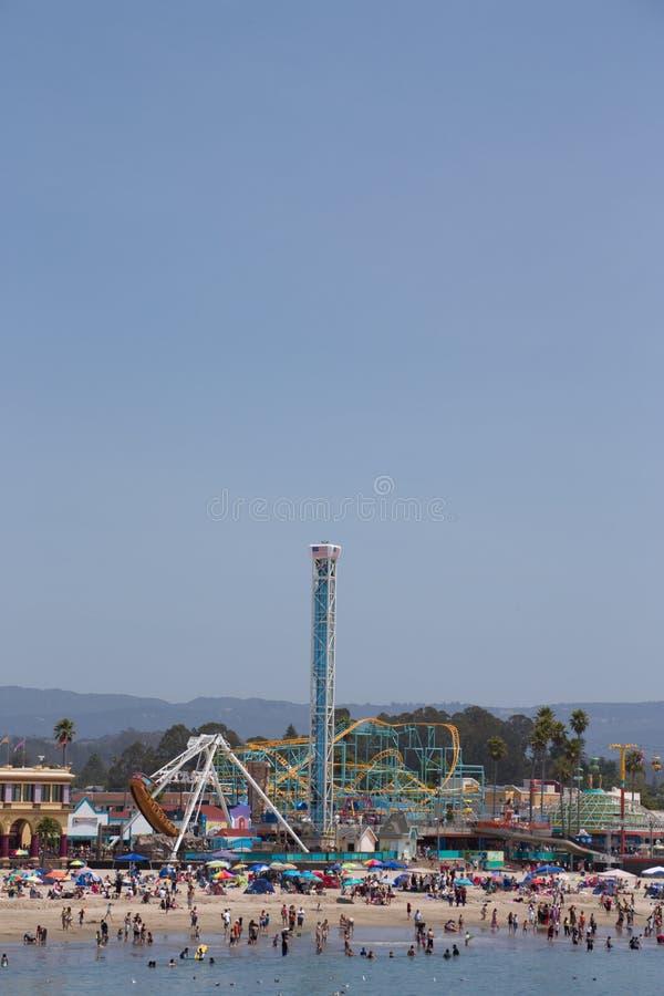 Santa Cruz Beach Boardwalk images libres de droits