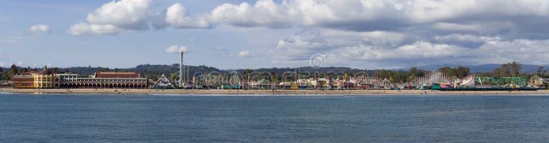 Santa Cruz Beach Boardwalk. Panorama. Santa Cruz (California) Beach Boardwalk view from pier. Panorama stock photography