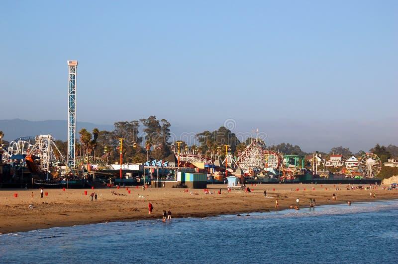 Santa Cruz Beach e divertimenti immagini stock