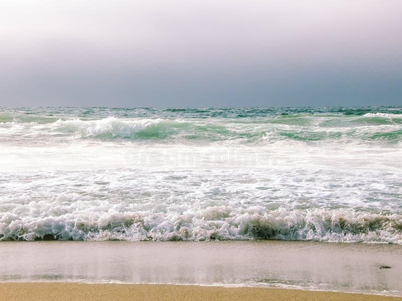 Santa Cruz Beach Offshore View royalty-vrije stock foto's