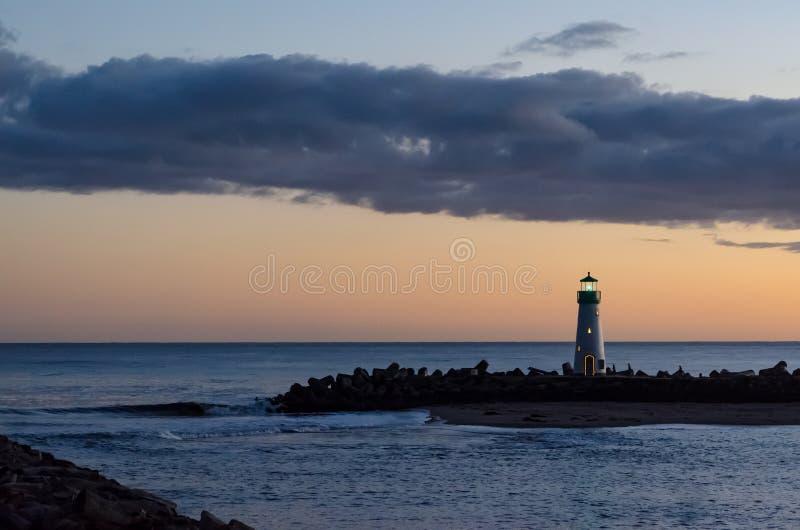Santa Cruz Breakwater Light stock foto's