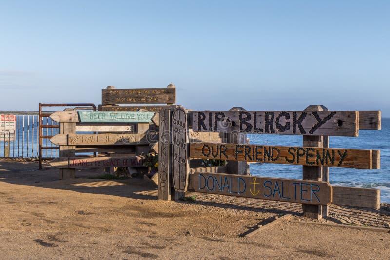 Surfer-Denkmal lizenzfreies stockbild
