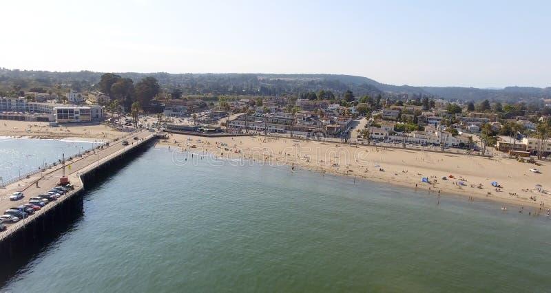 Santa Cruz, California Costa costa aérea hermosa foto de archivo libre de regalías