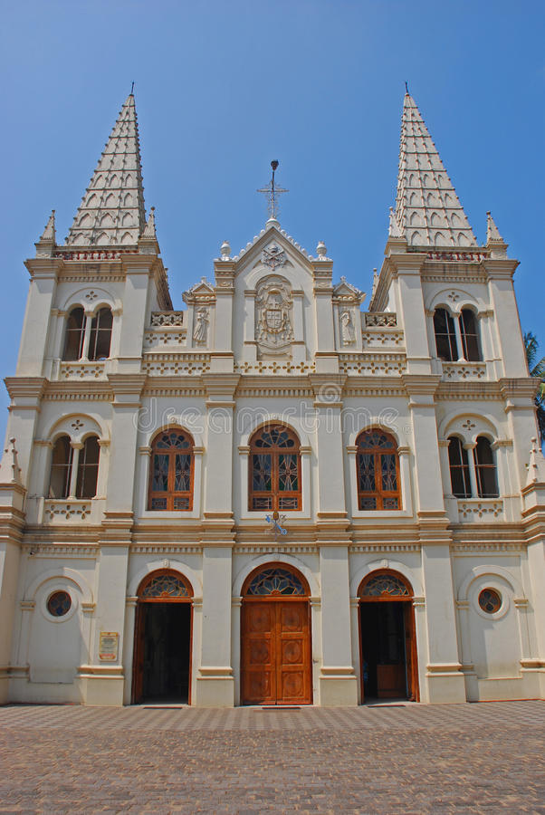 Santa Cruz Cathedral Basilica bij Fort Kochi stock fotografie
