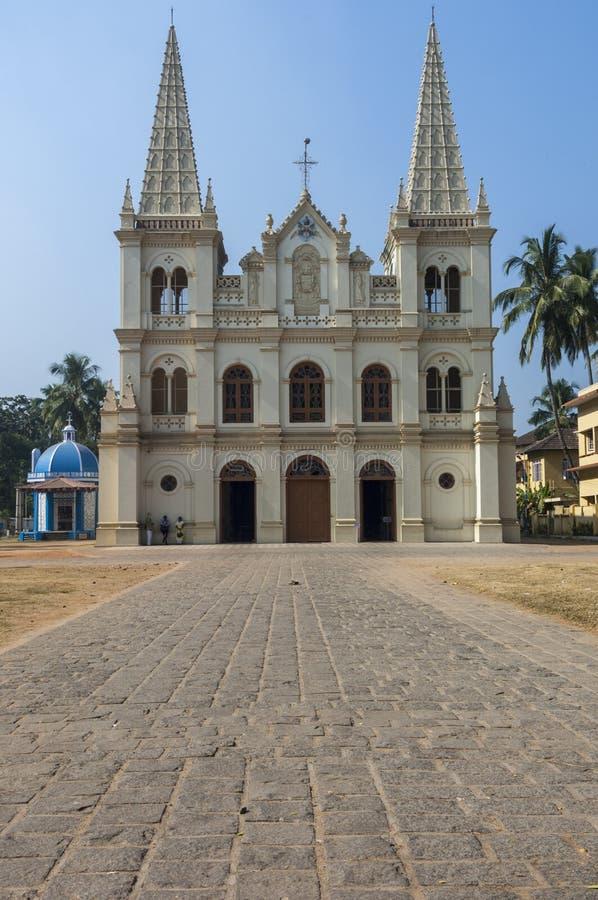 Santa Cruz Cathedral Basilica Church in Cochin. India stock images