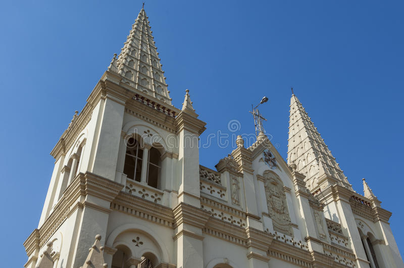 Santa Cruz Cathedral Basilica Church in Cochin. India royalty free stock photography