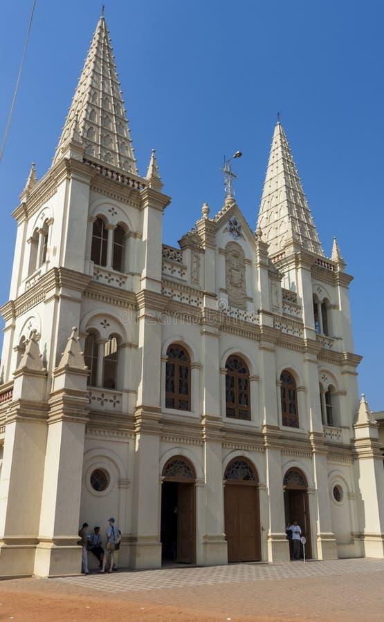 Santa Cruz Cathedral Basilica Church in Cochin. India royalty free stock image