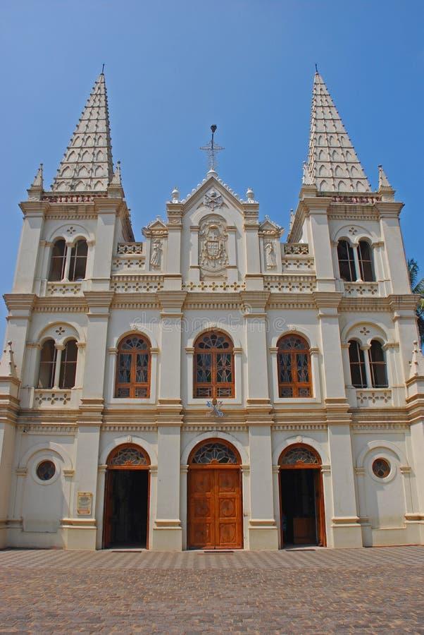 Santa Cruz Cathedral Basilica på fortet Kochi arkivbild
