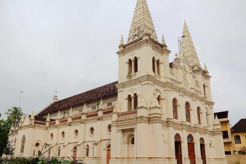 Santa cruz church in Cochin(Kochin). Kochin located in southern India, known as the Arab seafood, is a sea port city, although it is India's cities, but the city royalty free stock photos