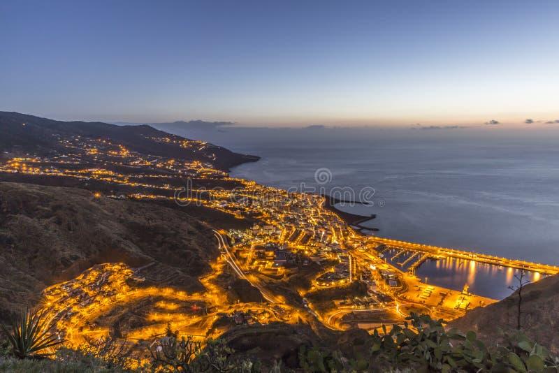 Santa Cruz de La Palma au lever de soleil Les Îles Canaries images libres de droits