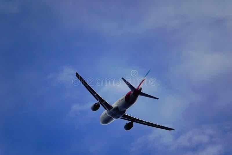 Santa Cruz de La Palma, Canary Islands, Spain; January 12th 2019: Eurowings airplane taking off La Palma Airport royalty free stock photos