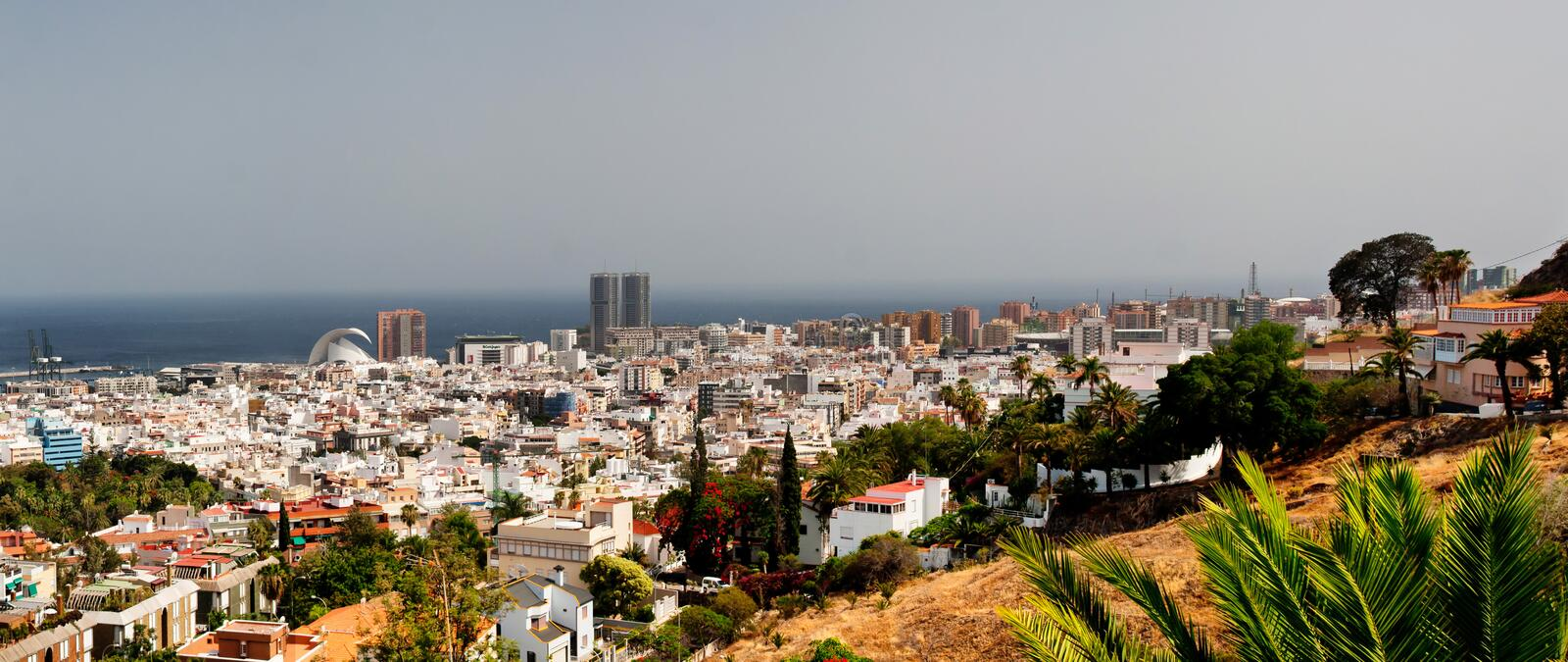 Santa cruz de tenerife. Aerial view stock photos