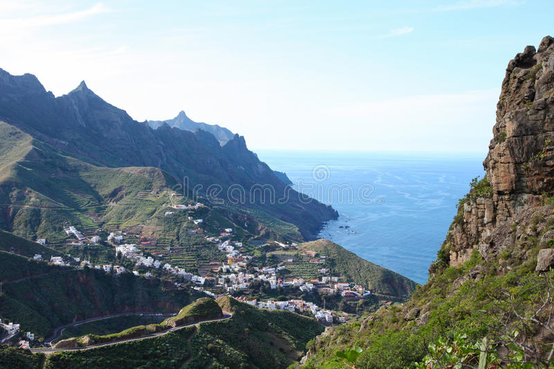 Santa Cruz de Tenerife. Landscape near Santa Cruz de Tenerife, in the North of Tenerife island, Canary islands, Spain stock image
