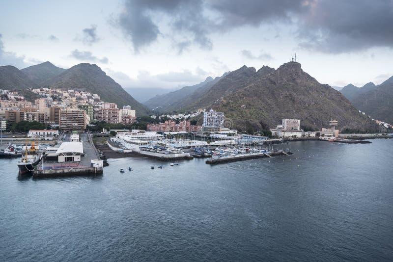 Santa Cruz de Tenerife Harbour image stock