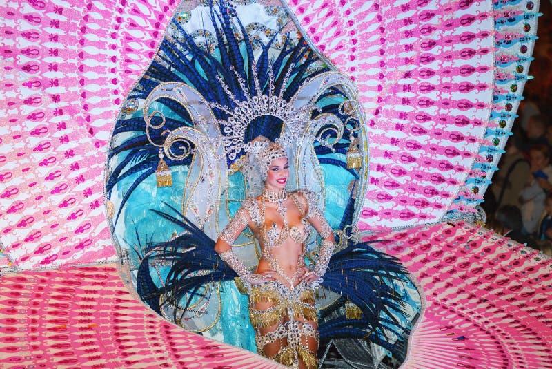 SANTA CRUZ DE TENERIFE HISZPANIA, LUTY, - 5, 2016 obraz royalty free