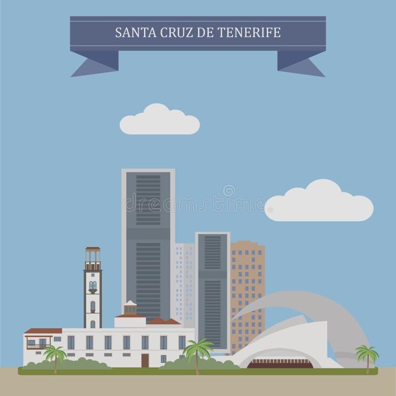 Santa Cruz de Tenerife, Spain ilustração stock