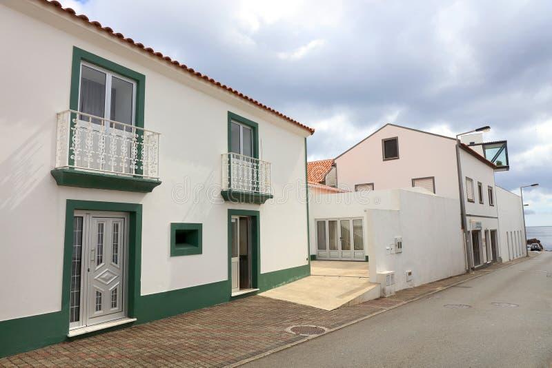 Santa Cruz del Flores, Azzorre, Portogallo immagini stock libere da diritti