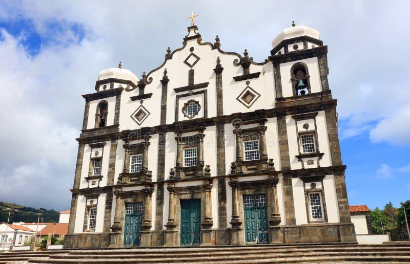 Santa Cruz del Flores, Azzorre, Portogallo fotografia stock libera da diritti