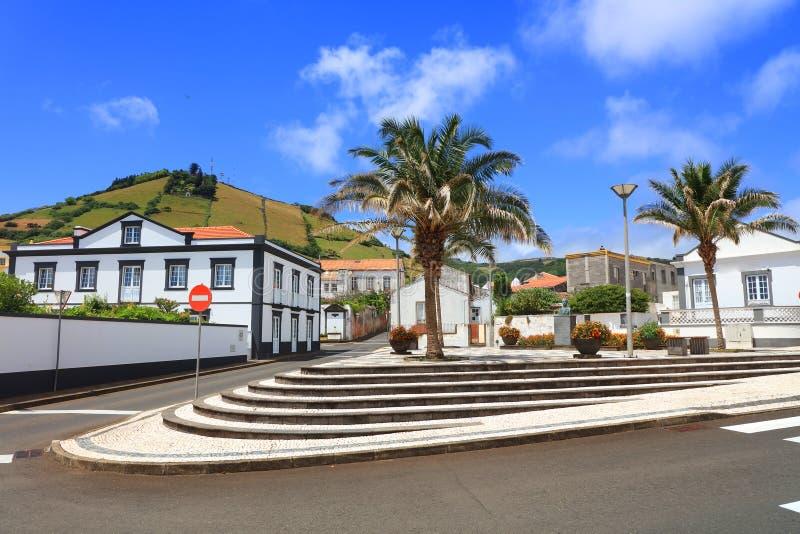 Santa Cruz del Flores, Azzorre, Portogallo fotografie stock libere da diritti