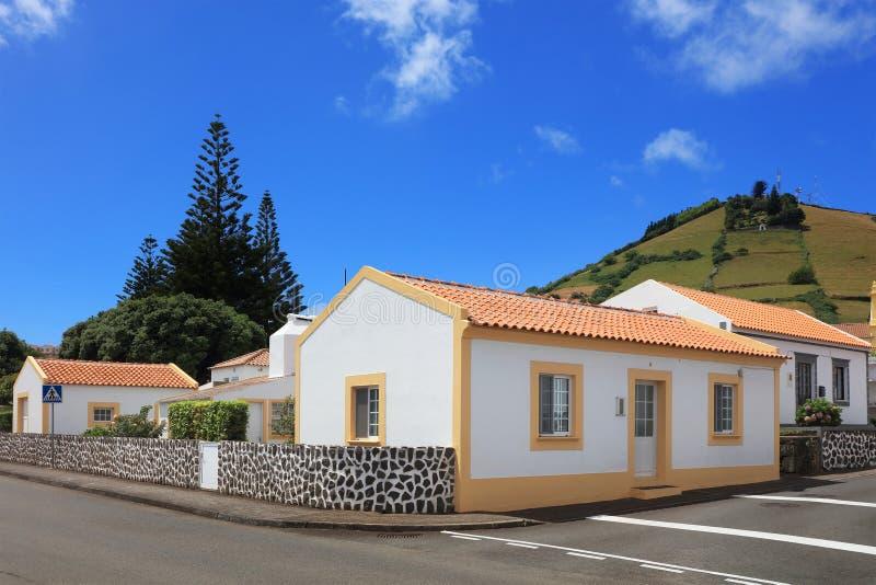 Santa Cruz del Flores, Azzorre, Portogallo immagini stock