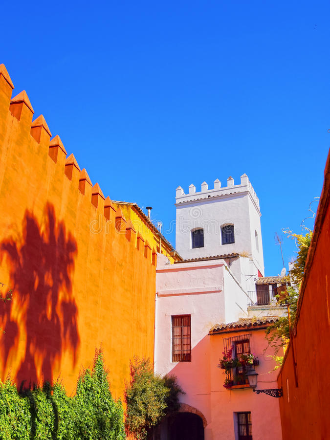 Santa Cruz District in Sevilla royalty-vrije stock afbeeldingen