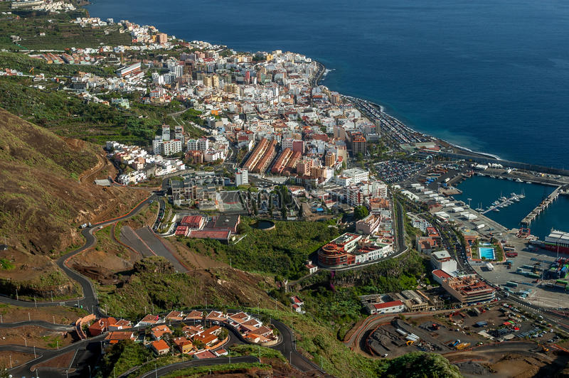 Santa Cruz en el La Palma, islas Canarias fotografía de archivo