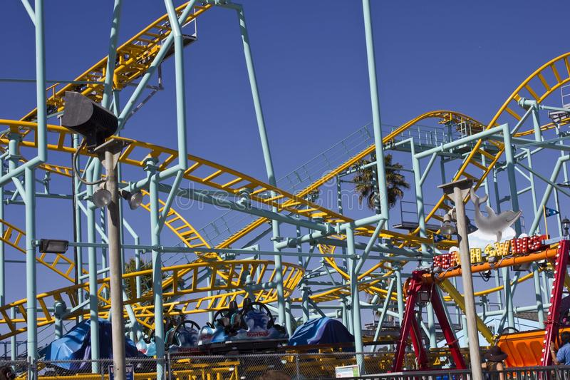 Santa Cruz Fun Park & Achtbaan royalty-vrije stock fotografie