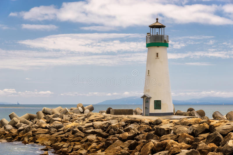 Santa Cruz Harbor Lighthouse - Walton Lighthouse stock foto