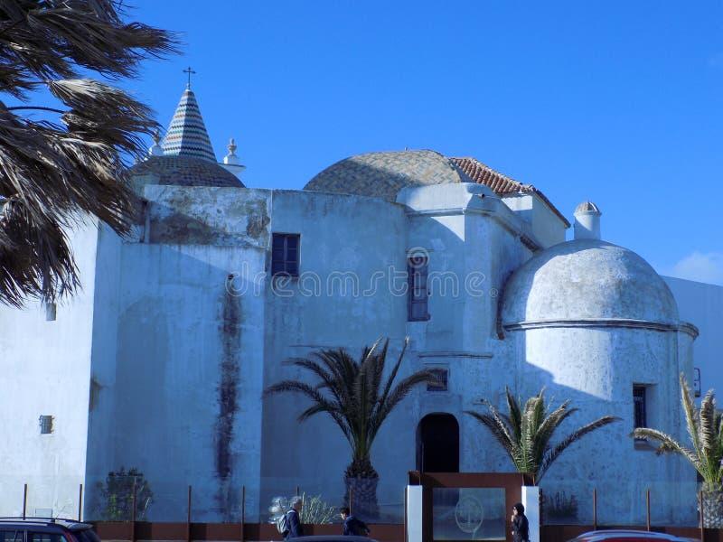 Santa Cruz igreja-Cadiz foto de stock royalty free