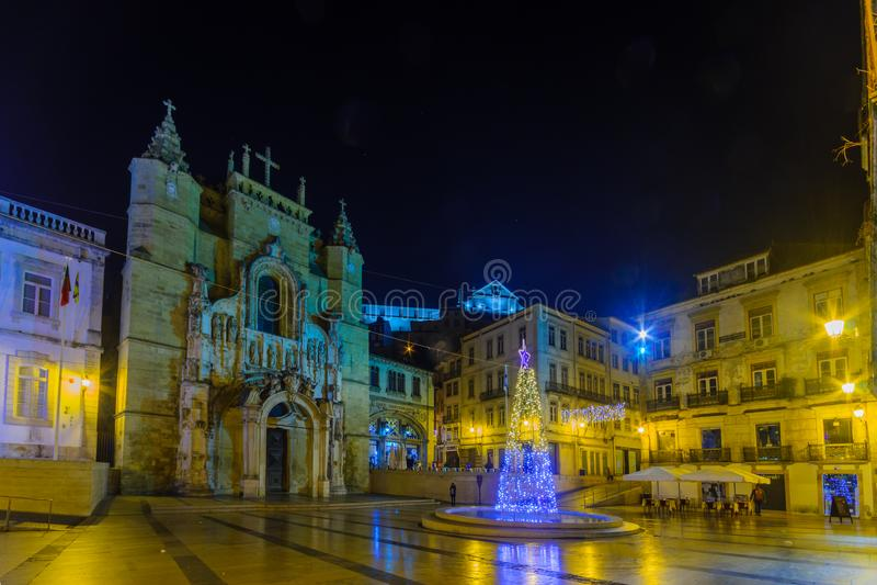 Santa Cruz-klooster, in Coimbra stock foto's