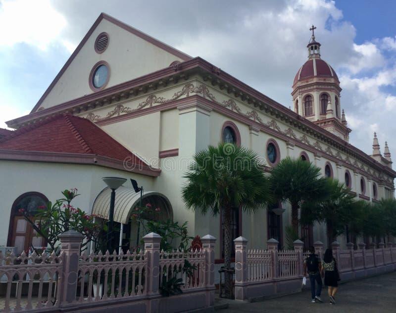 Santa Cruz kościół, Bangkok Tajlandia obraz royalty free