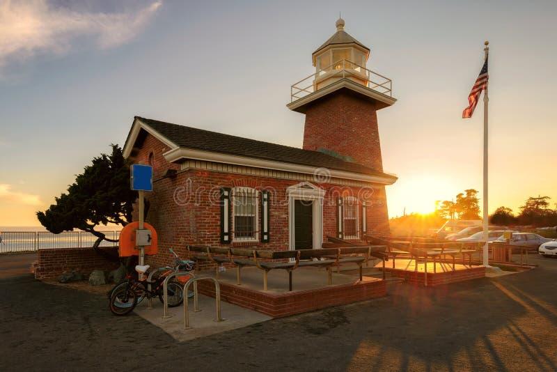 Santa Cruz latarni morskiej muzeum pomnik surfingowowie obrazy royalty free