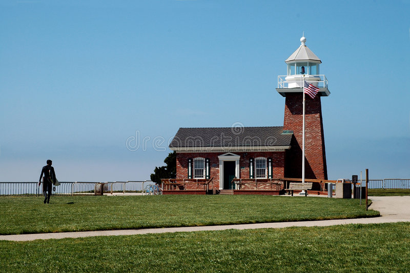 Santa Cruz Lighthouse stock image