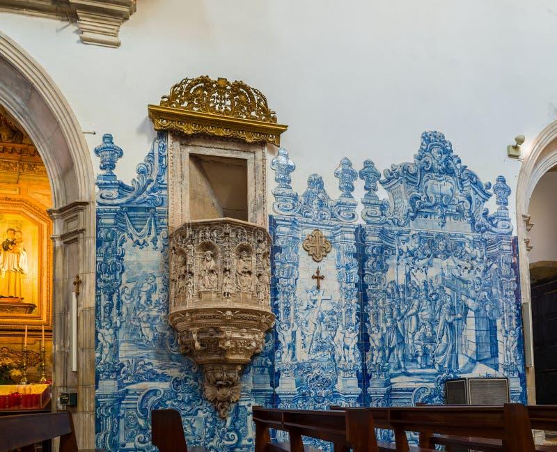 Santa Cruz Monastery em Coimbra portugal foto de stock royalty free