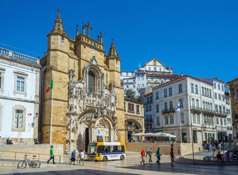 Santa Cruz Monastery en Coímbra portugal foto de archivo