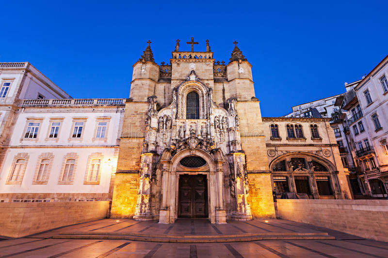 The Santa Cruz Monastery. (Monastery of the Holy Cross) is a National Monument in Coimbra, Portugal royalty free stock images
