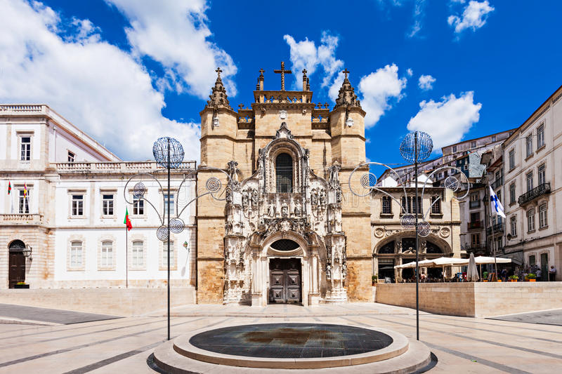 The Santa Cruz Monastery. (Monastery of the Holy Cross) is a National Monument in Coimbra, Portugal stock images