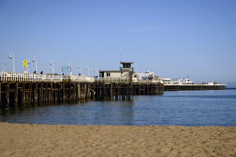 Santa Cruz Municipal Wharf en Santa Cruz, CA fotos de archivo libres de regalías