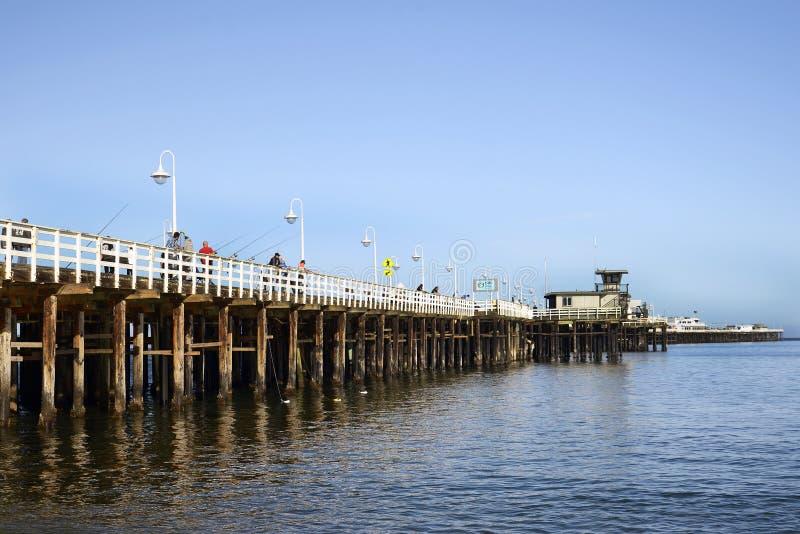Santa Cruz Municipal Wharf en Santa Cruz, CA fotografía de archivo libre de regalías