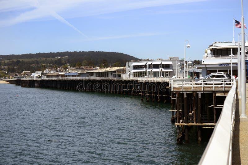 Santa Cruz Municipal Wharf en Santa Cruz, CA fotografía de archivo