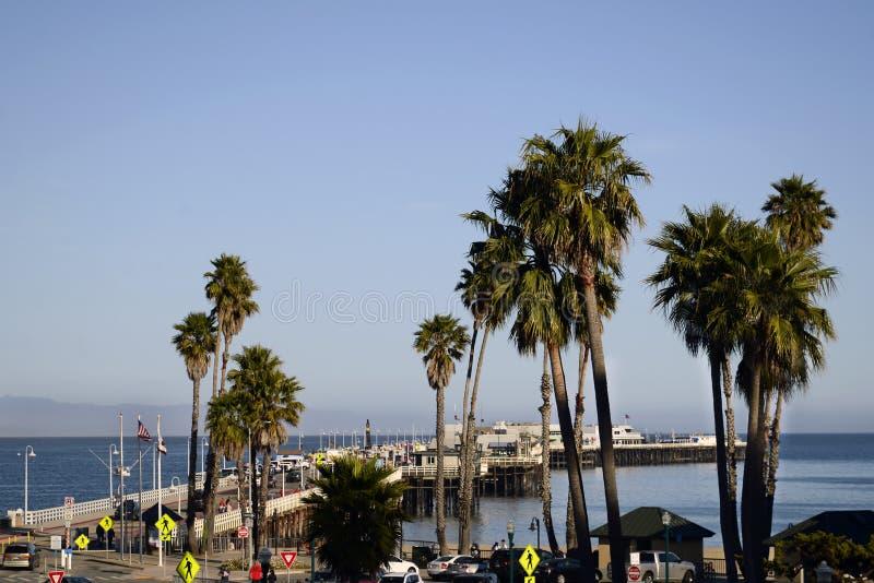 Santa Cruz Municipal Wharf en Santa Cruz, CA imagenes de archivo