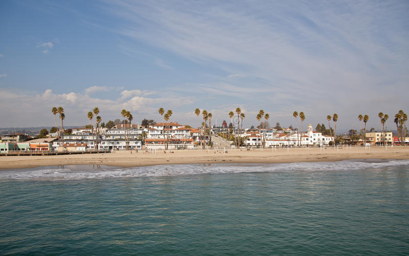Santa Cruz plaży Boardwalk obraz stock