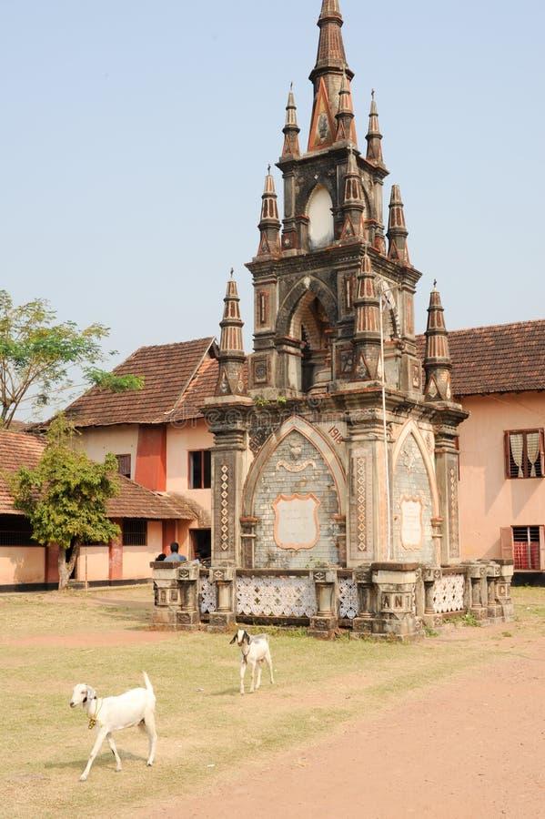 Santa cruz secondary school at Fort Cochin. On India royalty free stock photos