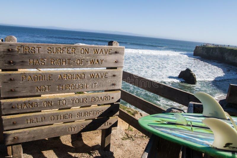 Santa Cruz Surfing royalty-vrije stock afbeeldingen